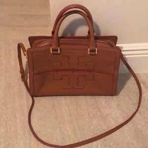 Handbags - Tory Burch Jessica bag tan with pink